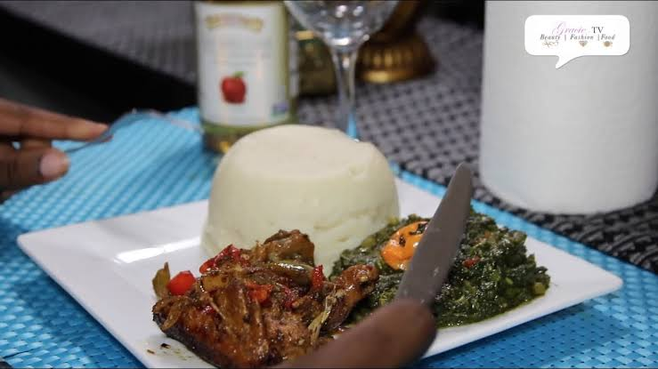 matembele with Ugali